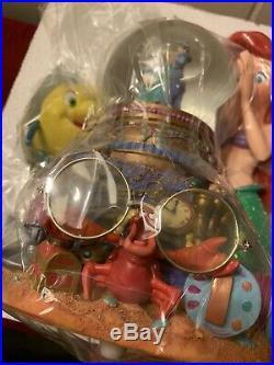 ARIEL Disney Little Mermaid MUSICAL Snow Globe Under The Sea Song. New Read