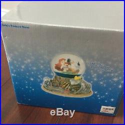 Ariels treasure trove disney store little mermaids snow globe music light up box