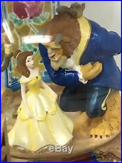 Beauty And The Beast Disney Musical Snow Globe Light Up Fireplace, Staircase