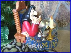 Capt. Hook And Tinker Bell Disney Store Musical Snow Globe, Lights, Blows, New Mib