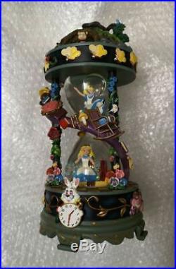 DISNEY Alice in Wonderland Japan 25th Anniversary Limited Snow Globe Music Box