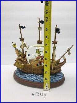 DISNEY Parks Peter Pan Captain Hook Musical Snow Globe Disney Catalog