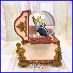 DISNEY STORE Peter Pan Tinker Bell Snow Globe Music Box Photo Frame