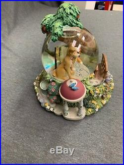 DISNEY's Lady and the Tramp Musical Snow Globe With Lights'Bella Notte