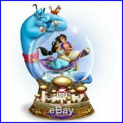 Disney ALADDIN Glitter MUSICAL Globe Snowglobe NEW