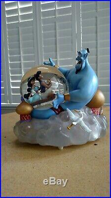 Disney Aladdin Musical Snow Globe Jasmine Genie A Whole New World Rare