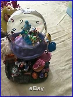 Disney Alice In Wonderland Light Up Musical Snow Globe Rare