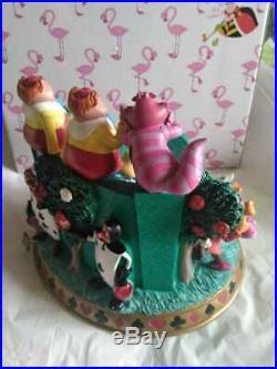 Disney Alice in Wonderland Rotating snow globe music box figure Cute products