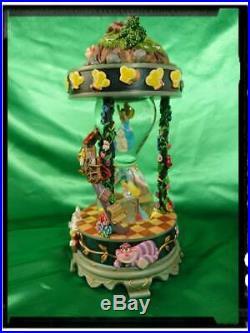 Disney Alice in Wonderland Snow globe Music Box & Light Up 25th anniversary