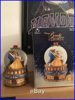 Disney Beauty And The Beast Musical Snow Globe Plays Beauty and the Beast