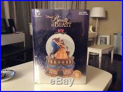 Disney Beauty And The Beast Musical Snow Globe Plays Beauty and the Beast NEW