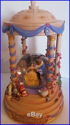Disney Beauty and the Beast Musical Snow Globe Gazebo RARE