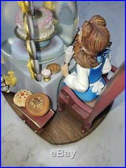 Disney Beauty and the Beast Musical Snow Water Globe. Be Our Guest