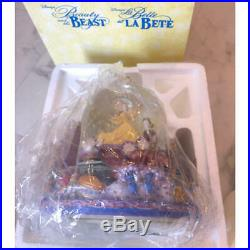 Disney Beauty and the Beast Snow Dome with Music Box Bell Snow Globe Figure Be