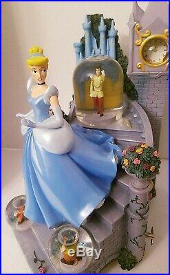 Disney CINDERELLA Snow Globe Music Box (So This is Love) Mice, Staircase RARE
