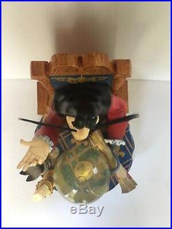 Disney Captain Hook Tinker Bell Light Snow Globe Music Box Moonlight Sonata
