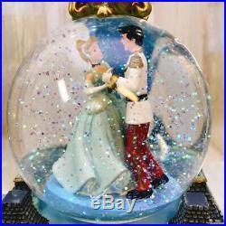 Disney Cinderella Prince Charming Snow Dome Snow globe Music Box
