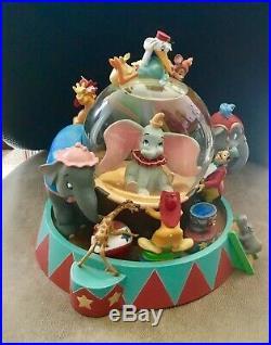 Disney Dumbo Circus Musical Snow Globe Very Rare