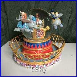 Disney Dumbo Turn Snow globe with music box Snow dome Mickey Minnie Figure
