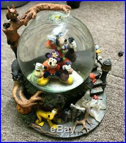 Disney Halloween Mickey Mouse Snow Globe Snow Dome Music Box #22490-RARE