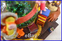 Disney Large Winnie The Pooh Musical Snow Globe Light Up Christmas