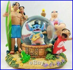 Disney Lilo Stitch as Elvis Musical Snow Globe Aloha Oe Celebration Music Figure