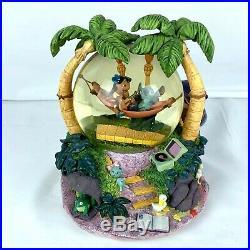 Disney Lilo and Stitch Snow Globe Musical Aloha Oe Light Up Torches Scrump Rare