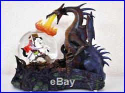 Disney Maleficent Dragon & Prince Philip figure Snow globe Music box Collector