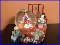 Disney Mulan Musical Snow Globe with original box