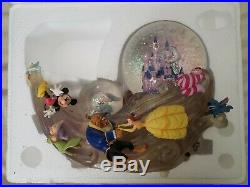 Disney Multi Characters with Castle Snow Globe Musical Lights Up Original Box