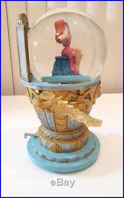 Disney Musical Snow Globe Jessica Rabbit Looks in Mirror plus LE 500 pin (#26)