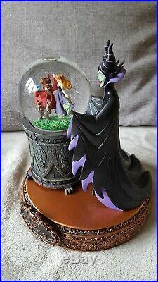 Disney Musical Snow globe Maleficent & Aurora Rare boxed