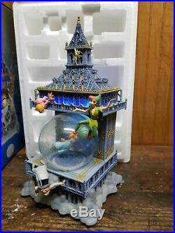 Disney Peter Pan Snow Globe You Can Fly London Big Ben Clock Tower Music Box