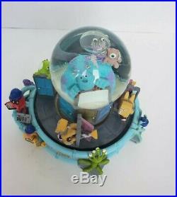 Disney Pixar Monsters Inc Musical Snowglobe Snowdome Snow Globe Snow Dome AS IS