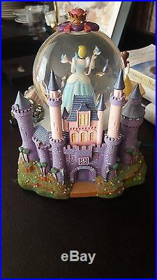 Disney Princess Musical Snow Globe MAGICAL WISHING PLACES Retired RARE