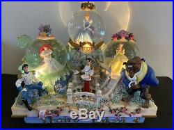 Disney Princess Parade Musical Light Up Snow Globe (Ariel, Cinderella, Belle)