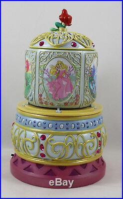 Disney Princess Revolving Musical Water Globe, Ariel, Aurora, Belle, Etc
