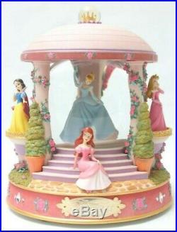 Disney Princess Snow Globe Gazebo Belle Cinderella Ariel Lights Music