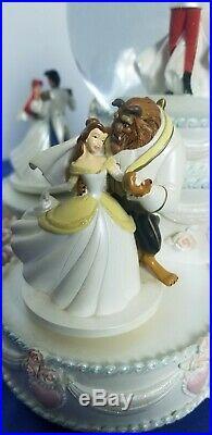 Disney Princess Wedding Musical Movement Snow Globe Cinderella Wedding Cake 2007