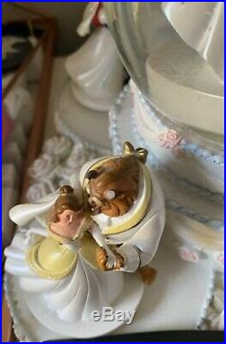 Disney Princess Wedding Musical Movement Snow Globe Cinderella Wedding Cake SALE