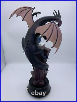 Disney Sleeping Beauty Maleficent Dragon Light-Up Musical Snow Globe Statue