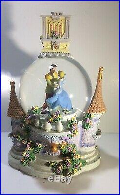 Disney Snow Globe Music Box Cinderella Tune So This Is 9x6 Item # 16054 Vintage