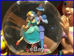 Disney Snow Globe The Little Mermaid Ariel & Music box Under the Sea