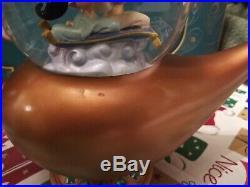 Disney Store Aladdin Art Of Jasmine Musical Snow Globe rare htf NIB with defects