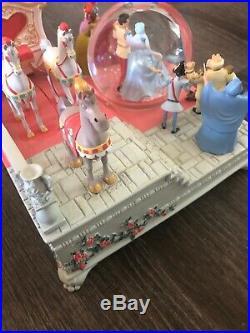 Disney Store Exclusive 60th Anniversary Cinderella Wedding Music Snow globe