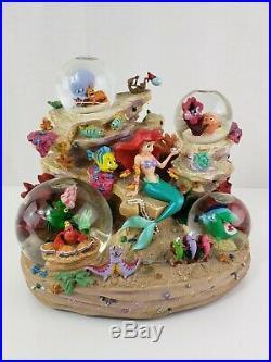 Disney Store Exclusive Little Mermaid Ariel Under the Sea Musical Globe RARE