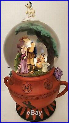 Disney Store Hercules Musical Snow Globe Plays Go the Distance