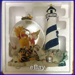 Disney Store Limited Winnie the Pooh Lighthouse Musical Snow Globe Lighted H8