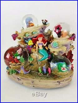 Disney Store Little Mermaid Water Globe 1988 Under the Sea Ariel Musical DAMAGE