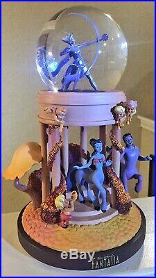 Disney Store RETIRED Fantasia Musical Snow Globe Rare